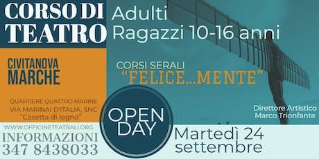"""""""FELICE..MENTE CON IL TEATRO"""" Ragazzi e Adulti - Corso di Teatro Civitanova Marche (MC)  tickets"""