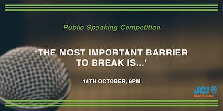 Public Speaking Competition tickets