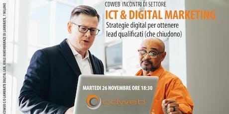 ICT & Digital Marketing - CDWEB Incontri di settore  biglietti