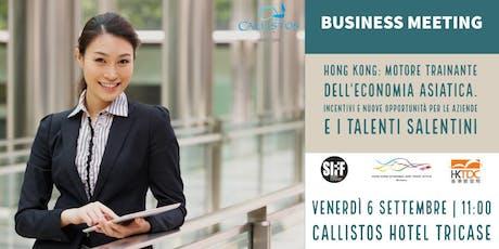 Business Meeting: Incentivi e nuove opportunità per le aziende Salentine biglietti