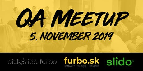 QA meetup furbo + slido tickets