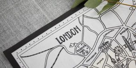 STITCHING A SENSE OF PLACE- Embroider a Keepsake London Map tickets