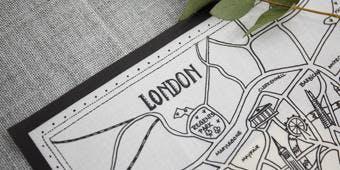 STITCHING A SENSE OF PLACE- Embroider a Keepsake London Map