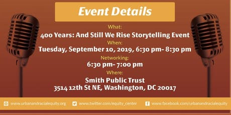 400 Years: And Still We Rise Storytelling Event tickets