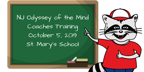 NJ Odyssey of the Mind - Coaches Training 1 tickets