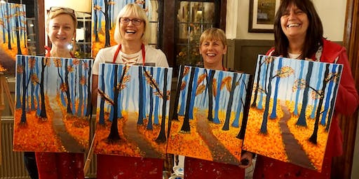 Autumn Stroll Brush Party - Staines