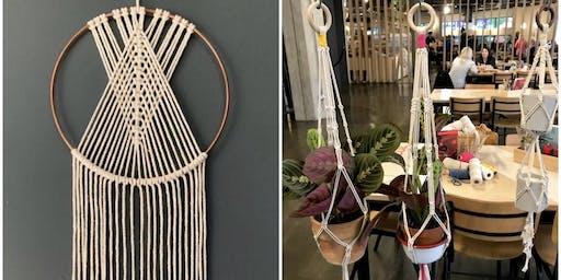 Macrame Plant Hanger or Macrame Dreamcatcher Workshop
