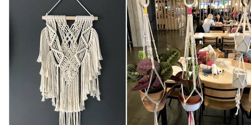 Macrame Plant Hanger or Macrame Wallhanging Workshop