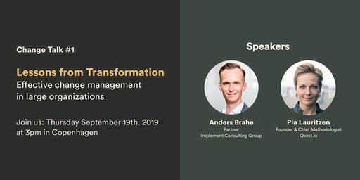 Change Talk #1 – Lessons from Transformation