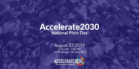 Accelerate2030 National Pitch Day tickets