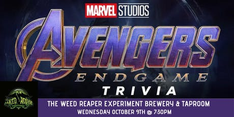 Avengers Endgame Trivia at The Weed Reaper Experiment Brewery & Taproom tickets