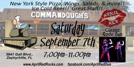 April Red is Back to ROCK Commandough's Pizza in Zephyrhills! tickets