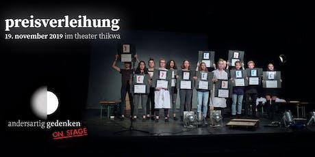 Preisverleihung andersartig gedenken on stage 2019 tickets