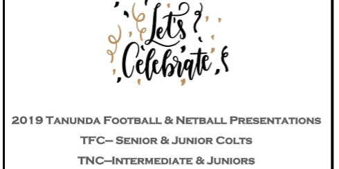 2019 TFC U15 & U17 and TNC Inters & Juniors Presentation Night