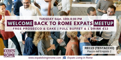Rome Expats Welcome Back Party