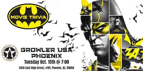 Batman Movie Trivia at Growler USA Phoenix tickets