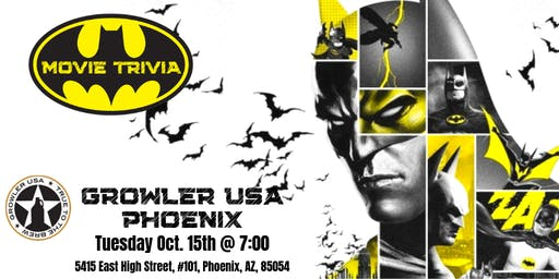 Batman Movie Trivia at Growler USA Phoenix