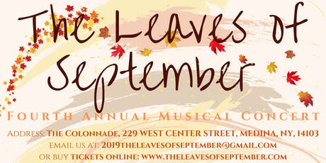 The Leaves of September:  2019 tickets