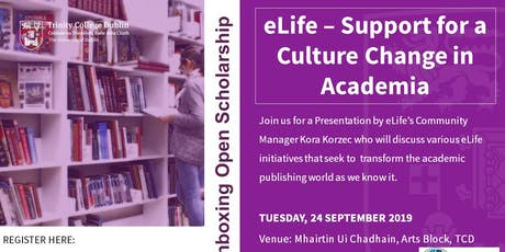 eLife's Support for a Culture Change in Academia to help Researchers Thrive tickets