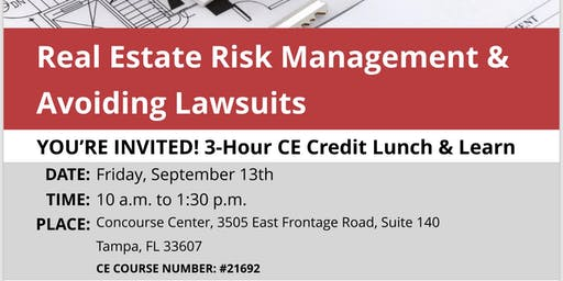 3 Hrs. Real Estate CE Class Lunch and Learn