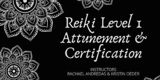 Reiki Level 1 Attunement and Certification