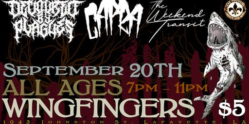 All Ages Show - Devoured by Plagues, Capra & The Weekend Transit