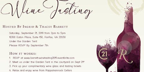 Ingrid and Tracey Barrett Client Appreciation Wine Tasting tickets