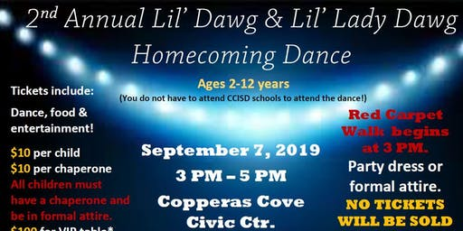 2nd Annual Lil' Dawg & Lil' Lady Dawg Homecoming Dance