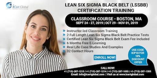 Lean Six Sigma Black Belt (LSSBB) Certification Training Course in Boston, MA, USA.