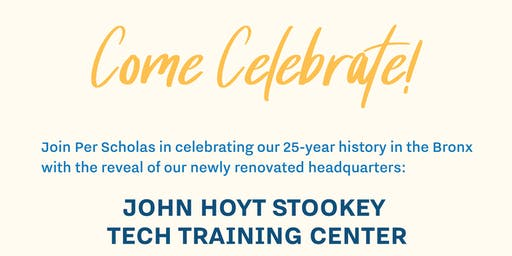 Per Scholas Celebrates 25 Years! Newly Renovated HQ Opening.