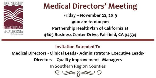 Regional Medical Directors Meeting (Fairfield)