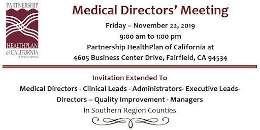 Regional Medical Directors Meeting (Fairfield)