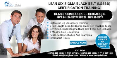 Lean Six Sigma Black Belt (LSSBB) Certification Training Course in Chicago, IL, USA.