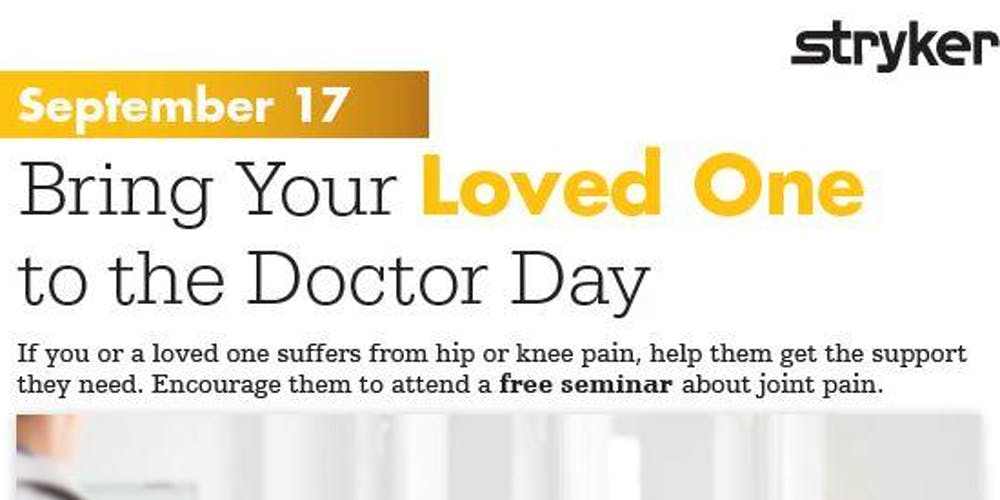 Bring Your Loved One to the Doctor Day