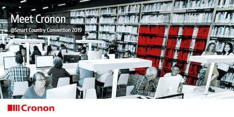 Digitalisierung 4.0: Best Practices von Cronon auf der Smart Country Convention 2019 / Halle B, Stand 407 tickets
