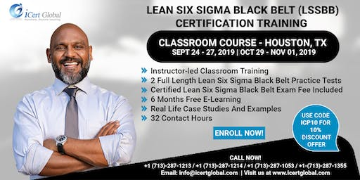Lean Six Sigma Black Belt (LSSBB) Certification Training Course in Houston, TX, USA.