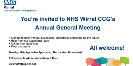 NHS Wirral CCG Annual General Meeting 2019 tickets