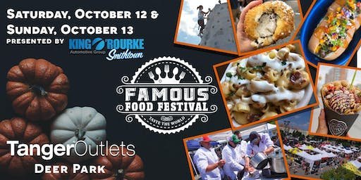 "Famous Food Festival ""Taste the World"" October 12 + 13th @ Tanger Outlets"
