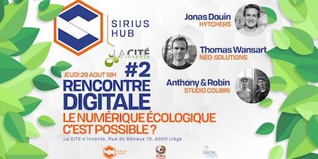 Rencontre Digitale #2 : Le numérique écologique c'est possible ? Tickets