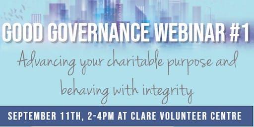 Good Governance Webinar #1