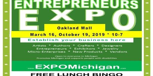 ENTREPRENEURS EXPO - Oakland Mall, table at main entrance hallway, October 19, 2019