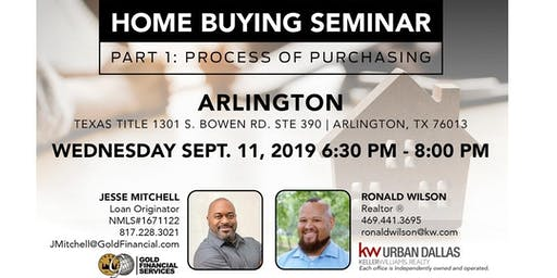 Home Buyer's Seminar - Part 1: Arlington