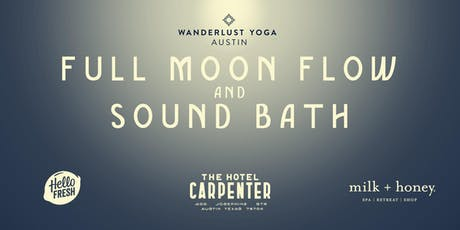 Full Moon Flow & Sound Bath tickets