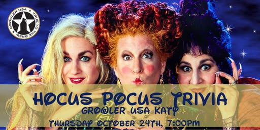 Hocus Pocus Trivia at Growler USA  Katy