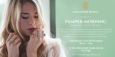 Pamper Morning at Augustine Jewels tickets