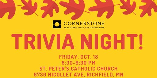 Trivia Night hosted by Cornerstone's Young Professionals Board