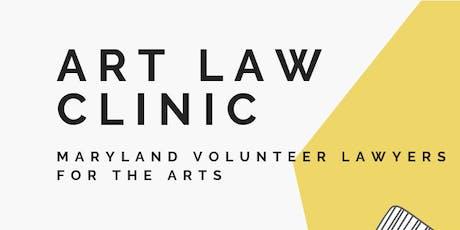 Art Law Clinic, September 2019! tickets