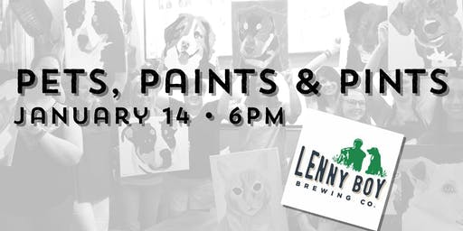 Pets, Paints & Pints at Lenny Boy Brewing