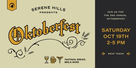 Celebrate Oktoberfest at Serene Hills  tickets