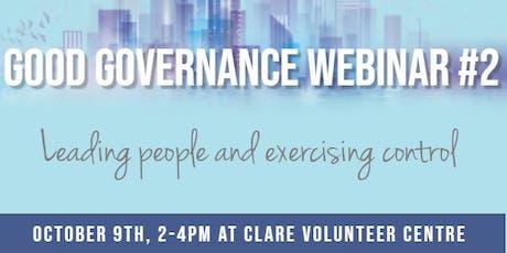 Good Governance Webinar #2 tickets
